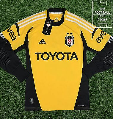 Besiktas Goalkeeper Shirt - adidas GK Jersey with Padding - Mens - Medium