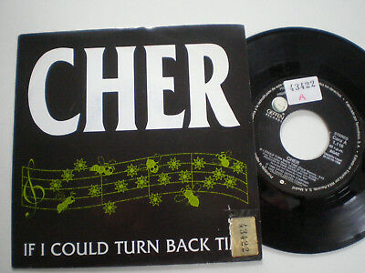 CHER  If I Could Turn Back Time  SPAIN PROM0 45 1989