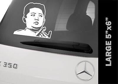 Kim Jong-un Vinyl Decal Bumper Sticker