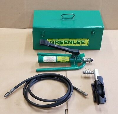 Greenlee 800 Hydraulic Cable Bender W/ 1725 Foot Pump & Case FREE SHIPPING 👍