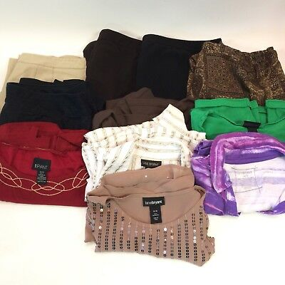 Lane Bryant Womens 14 16 LOT 11 Shirts Pants Skirts Career Casual Wholesale