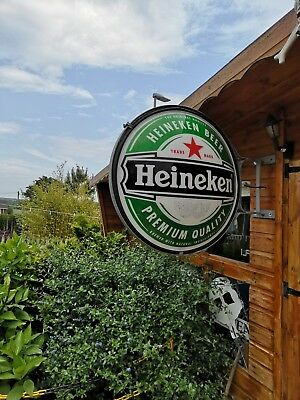 Large double-sided Heineken wall sign