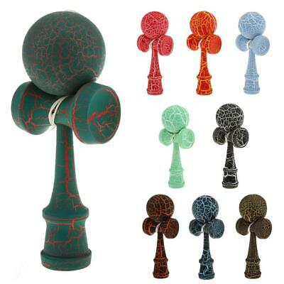 Full Crackle Paint Kendama Japanese Traditional Toy Kids Wooden Skill Ball Games