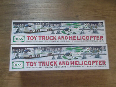 2006 HESS TOY TRUCK  AND HELICOPTER UNOPENED Lot of 2