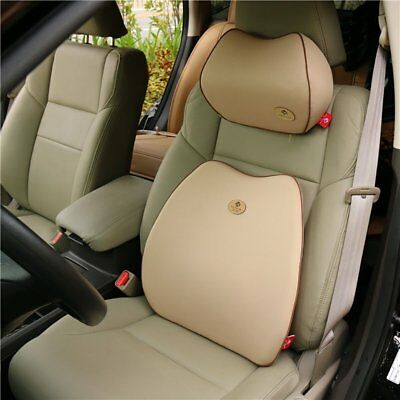 Car Back Rest and Headrest Comfort Cushion Alleviate Pain Ache Body Seat Support
