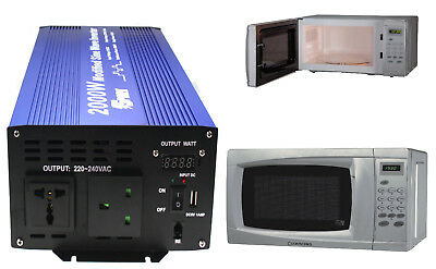2000 Watt 24V MICROWAVE OVEN INVERTER for TRUCK HGV LORRY 24 VOLT 24V VEHICLES