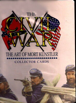 1996 THE CIVIL WAR ART BY MORT KUNSTLER BINDER with pages FREE SHIPPING  IN US