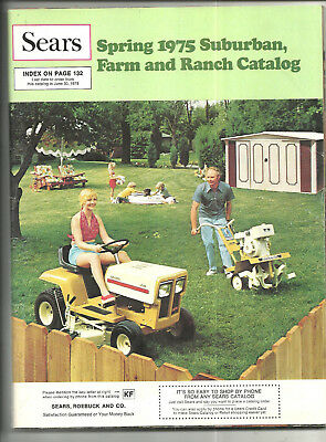 1975 Sears Spring Suburban Farm Ranch Catalog Saddles Live Poultry Mowers Sheds