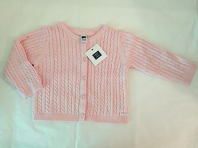 28371329e12c JANIE AND JACK Baby Girl Cable Pink Sweater Cardigan Size 12-18M ...