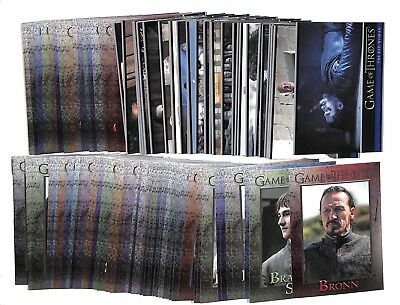 2017 Rittenhouse Game Of Thrones Season 6 Complete 100 card base set