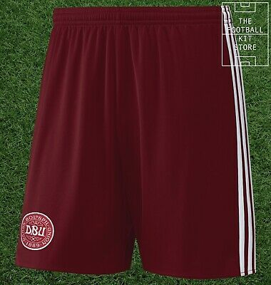 Denmark Home Shorts - Official Adidas International Team Shorts - Mens All Sizes