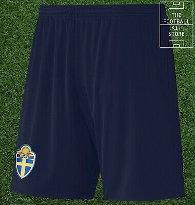 Sweden Away Shorts - Official adidas SVFF Football Shorts - Mens - All Sizes