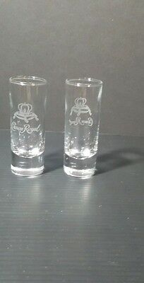 CROWN ROYAL set of 2 tall shot glasses  new