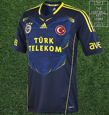 Fenerbahce Away Shirt - adidas Turkish Football Jersey - Mens - All Sizes