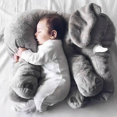 Children Baby Long Nose Large Elephant Doll Soft Plush Stuff Toys Lumbar Pillow