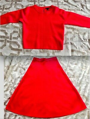 c7e33de235 J. CREW RED Skirt size 6 & Matching Sweater size Small - Lovely Set ...
