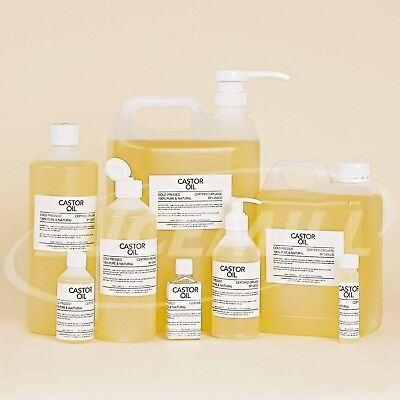 CASTOR OIL BP Grade 100% PURE Organic COLD PRESSED 10ml to 25 Litres HEXANE FREE