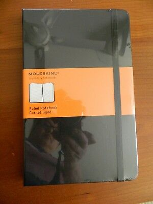 "Moleskine Hard Cover Large Rule Notebook 5"" x 8.25"""