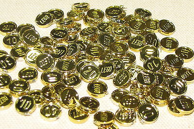 Lego Lot Of 100 New Rare Pirate Chrome Gold Coins Treasure Pieces