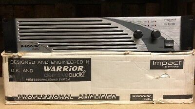 Warrior Audio IS600 Professional Stereo Amp Pro Power Amplifier Disco Party