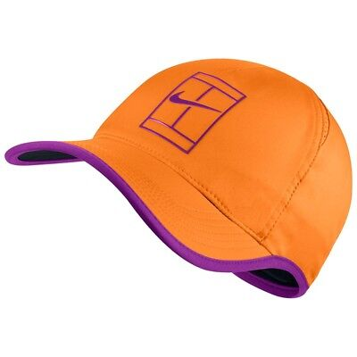 Nike Court Aerobill Feather Light Tennis Cap (Orange) - One Size - New ~ 864105