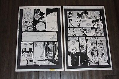 Books Of Magic #49 Page 5 & 6 Original Art - Peter Gross - Vertigo Lot Of 2