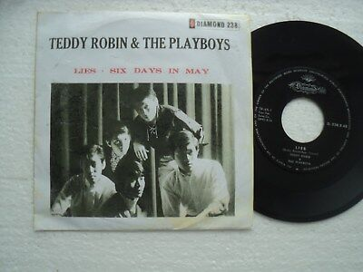 TEDDY ROBIN & THE PLAYBOYS - Lies/ Six days in May- Rare HONG KONG 45 RPM P/S