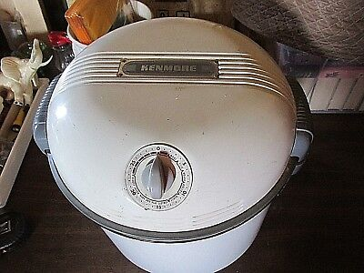 vintage Kenmore-portable Augar-Electric washing MAchine W/Ringer and cover WORKS