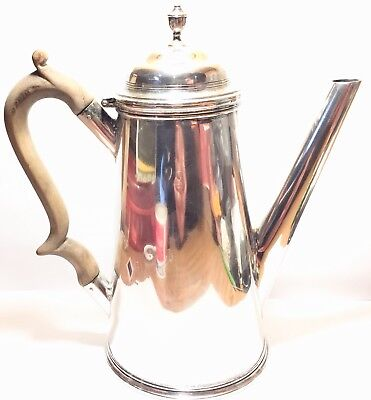 Rare 1793 ENGLISH Sterling Silver Tea COFFEE pot signed by ROBERT SHARP LONDON
