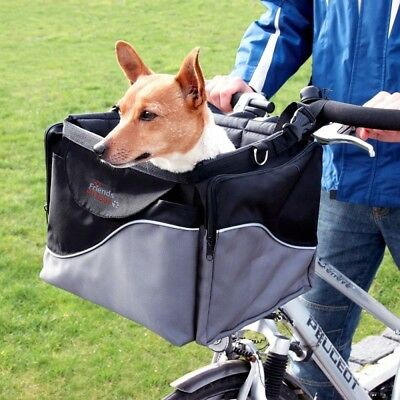 Trixie Friends On Tour Bicycle Dog Pet Carrier Robust De Luxe Basket