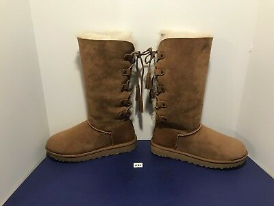 a9d5c0cd44b UGG AUSTRALIA WOMEN'S Kristabelle Tall Lace Up Boots, Chestnut Size 8 Suede  H39