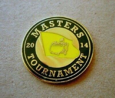 """2014 Us Masters (Bubba Watson's Last Masters Title) 1"""" Coin  Ball Marker"""