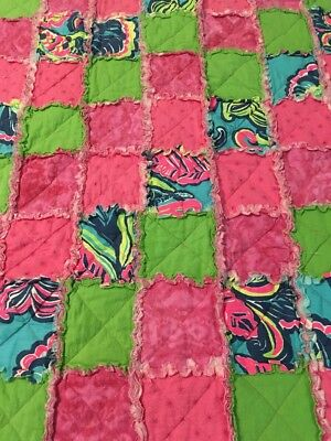 Lilly Pulitzer Patchwork Quilt Baby Blanket
