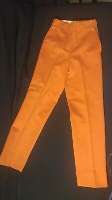 VINTAGE 24 in. waist H Bar C Ranchwear WESTERN PANTS Rusty Orange Color