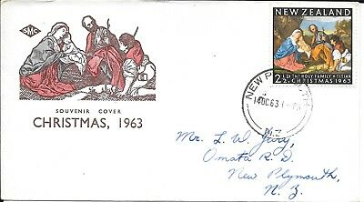 NZFD777  New zealand christmas  cover   1963   FDC $4.00