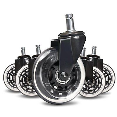 Rollerblade Style Office Chair Caster Pack of Five Replacement Wheels ErgoCaster