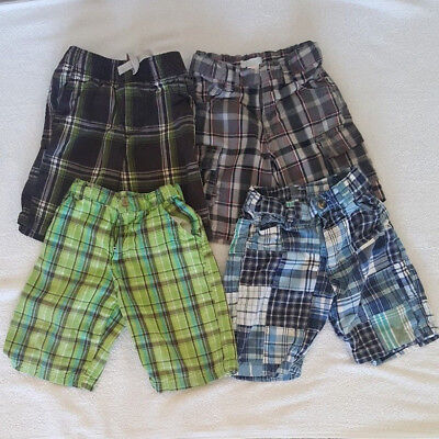 Lot of Four Boy's 4T Plaid/Checkered Shorts Including Old Navy, U.S. Polo Assn.