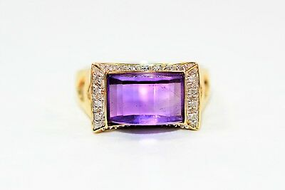 Majestic Marvel 3.56tcw Amethyst & Diamond 14kt Yellow Gold Ring