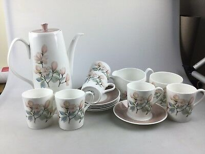 Vintage Royal Adderley Ophelia Design - Coffee Set - 16 Pieces Including Pot
