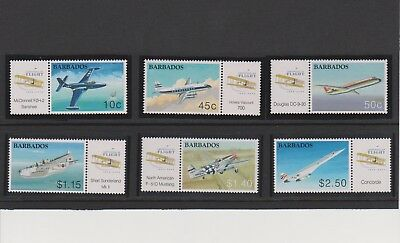 Barbados 100 Years of Aviation Issue Set MNH Scott 1051-1056