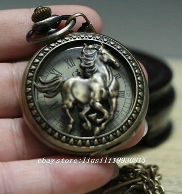 Oriental China's Tibet Collectible Handwork horse Pocket Watch