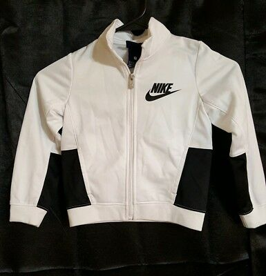 Toddler Boys Black & White NIKE Track Jacket Size 3T Kids