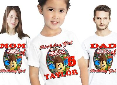 Roblox Birthday Shirts T Shirt T-Shirt Party Family Personalized Decorations Kid