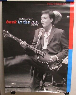 PAUL MCCARTNEY Beatles Back In The US 2002 18x24 Promo CD Store Poster N008