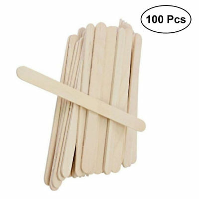 100PCS Wooden Popsicle Sticks Craft Sticks Natural Wood Kids Ice Cream Sticks