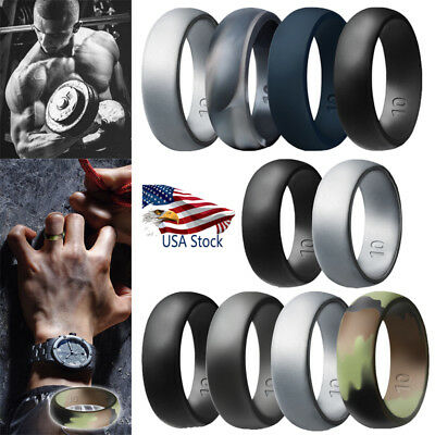 1/2/4p Silicone Wedding Engagement Ring Men Outdoor Climbing Rubber Band Sports