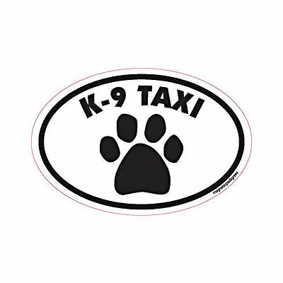 K-9 Taxi Oval Euro Style Car Dog Magnet