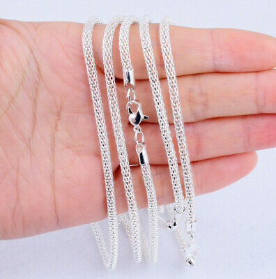 """Silver Plated Chocker Hollow Snake Chain Crystal Necklaces Pendant Finding 17"""""""
