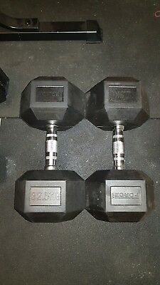 Force USA rubber hex dumbbells (22.5kg-32.5kg)