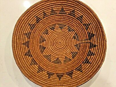 Large Rare 16 inch 21 points antique Native American Indian wedding basket